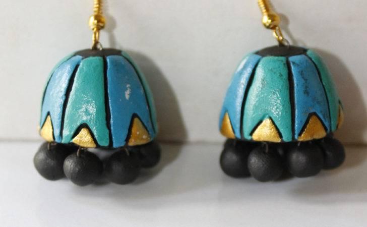 Blue Terracotta Jhumka