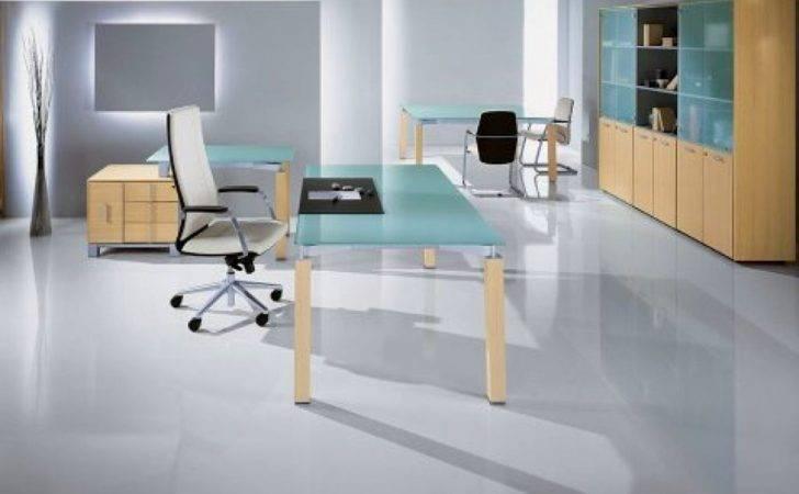 Blue Toned Minimalist Office Furniture
