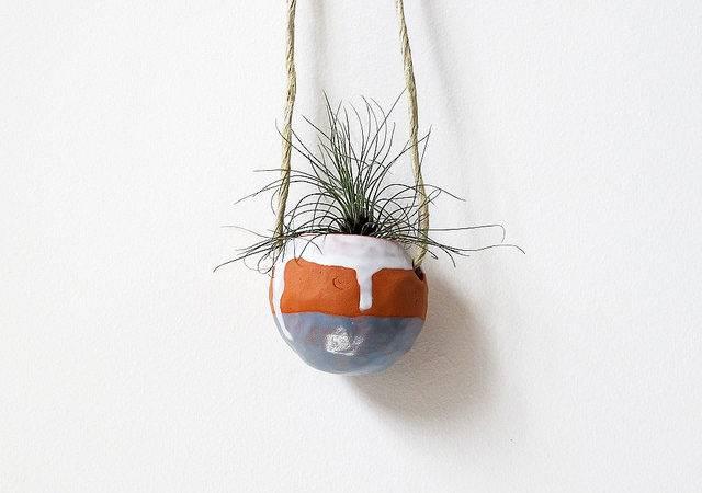 Blue White Hanging Terracotta Pinch Pot Flickr Sharing