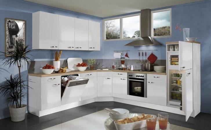 Blue White Kitchen Cabinets Walls