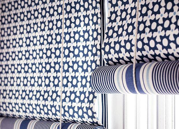 Blue White Nautical Blinds Illustrate Choosing