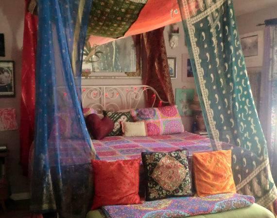 Bohemian Gypsy Bed Canopy Babylonsisters Etsy