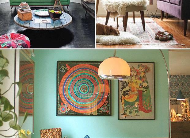 Bohemian Modern Living Room Justina Blakeney Est Rooms