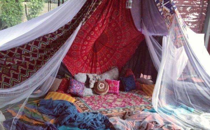 Bohemian Tent Hideaway Spaces Pinterest Boho