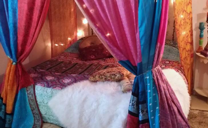 Boho Bed Canopy Gypsy Hippie Hippy Hippiewild