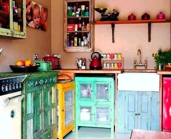Boho Kitchen Love Cabinets Decorating Ideas Pinterest