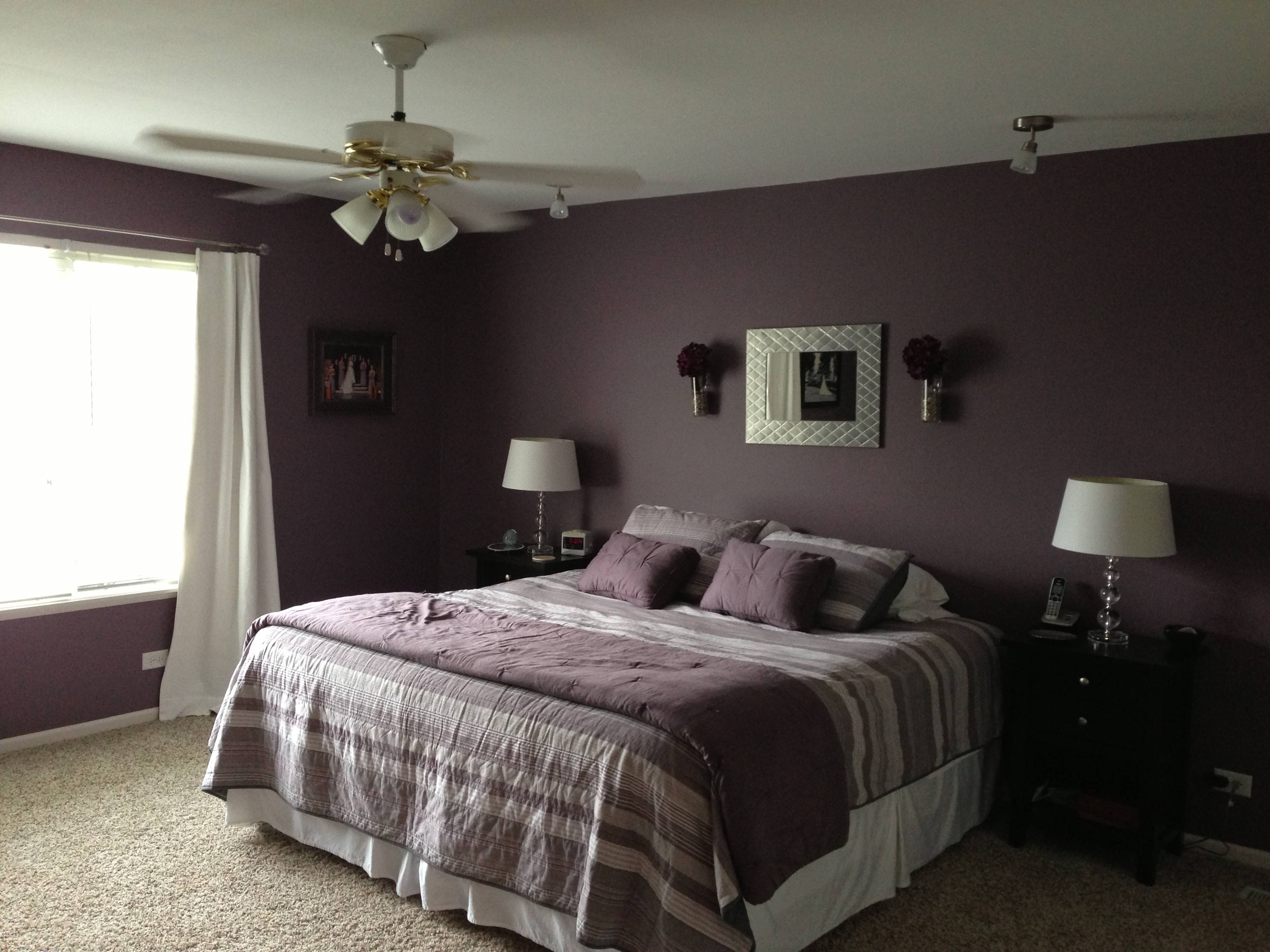 Bold Color Bedroom Behr Wine Frost Everything