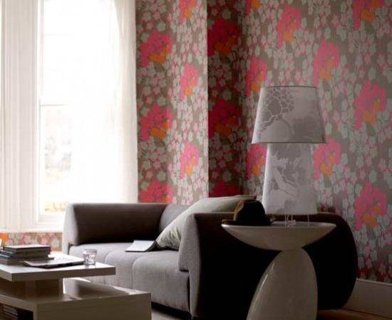 Bold Floral Living Room Rooms Decorating Ideas
