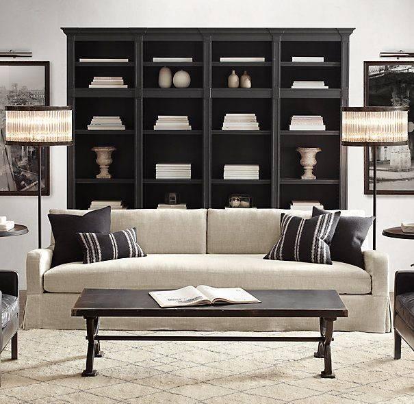 Bookshelf Behind Sofa Dream Home Ideas Pinterest