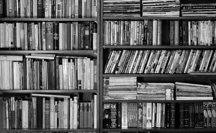 Bookshelf Books Black White