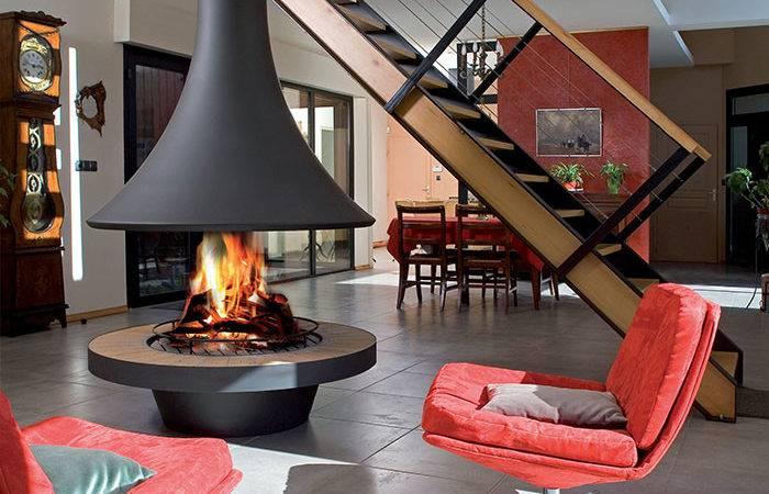 Bordelet Eva Suspended Wood Fireplace Hawkesbury Heating