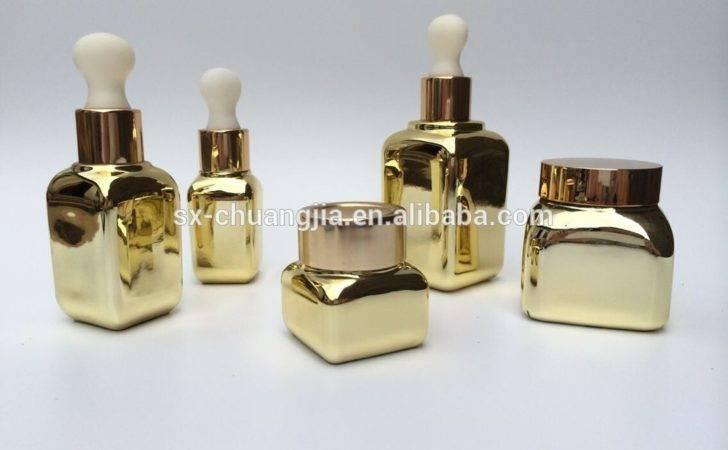 Bottle Jar Fancy Design Glass Bottles Gold
