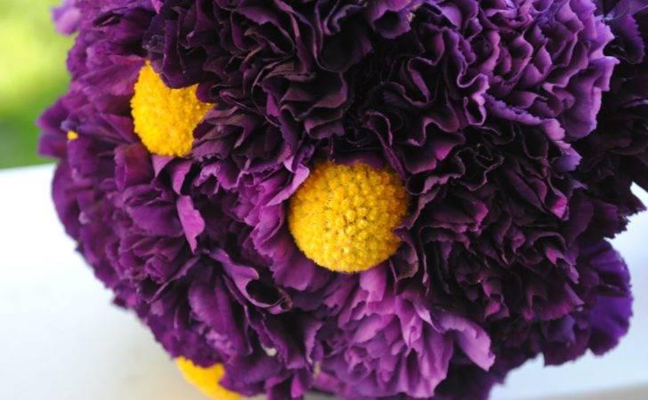Bouquet Bridal Purple Yellow Bouquets