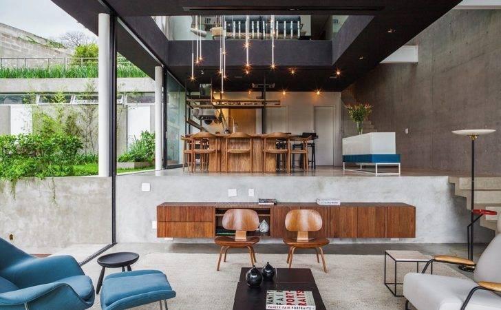 Brazilian Modern Poised Multi Level Home Sao Paulo