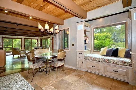 Breakfast Nook Located Between Kitchen Sunroom Lovely