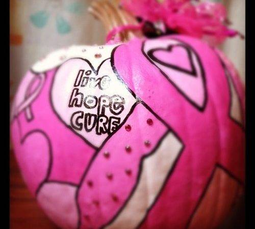 Breast Cancer Awareness Pumpkin Might Make Great Raffle Item