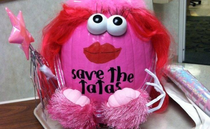 Breast Cancer Awareness Pumpkin Punpkin Tatas