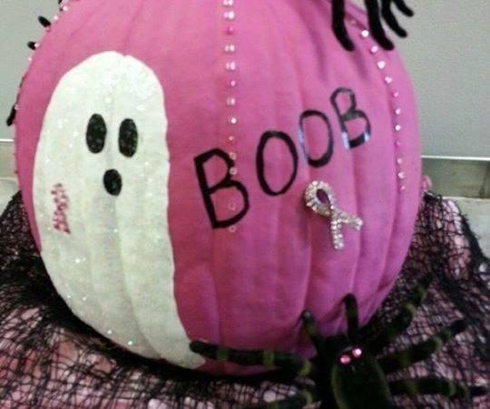 Breast Cancer Pumpkin Ideas Painted Pumpkins