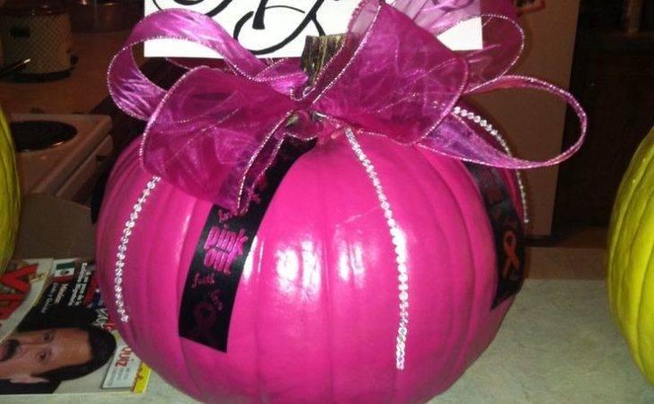 Breast Cancer Pumpkin Made