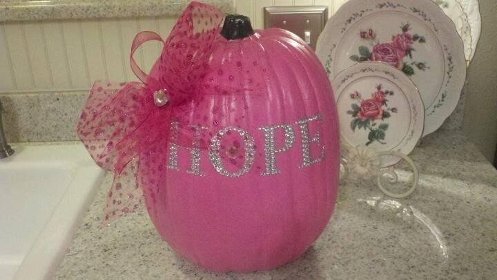 Breast Cancer Pumpkin Pumpkins Holiday Ideas