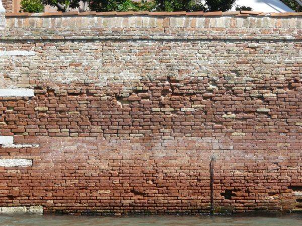 Brick Fence Texture Significant Erosion Large Areas Color