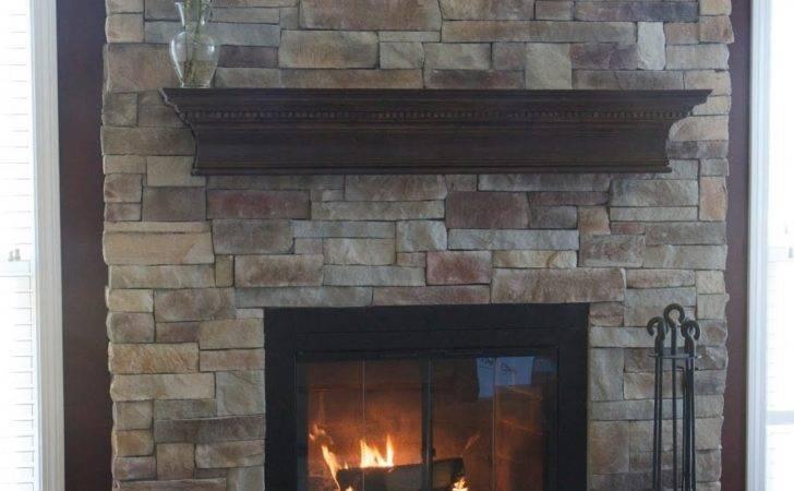 Brick Fireplace Refurbished New Stone Veneer Manufactured