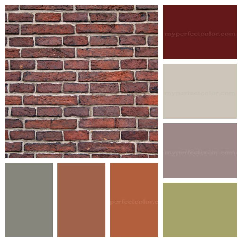Brick House Colors Pinterest Brown Houses Shutters