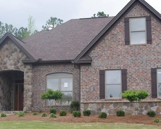 Brick Stone Combination Home Design Ideas Remodel Decor