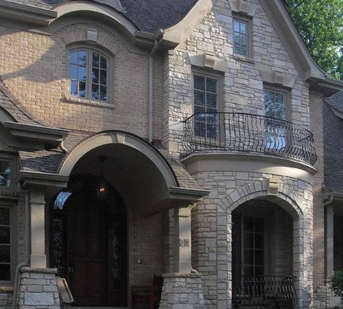 Brick Stone Combination Home Design Photos