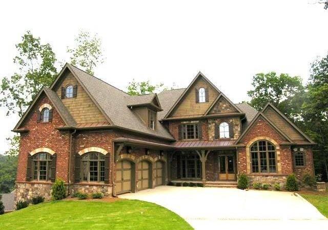 Brick Stone Combination House Pinterest