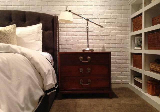 Brick Veneer Contemporary Bedroom New York Fauxpanels