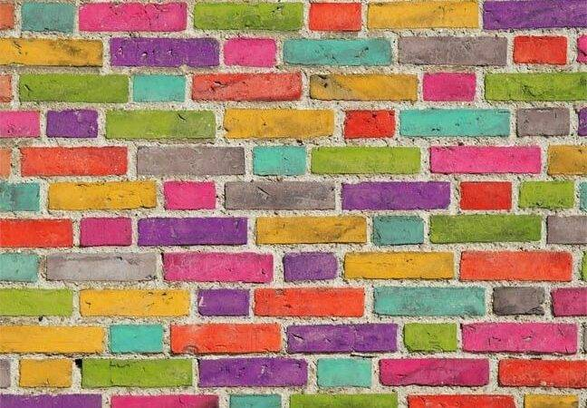 Brick Wall Colorful Living Pinterest