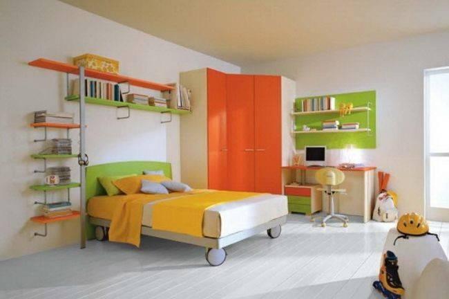 Bright Bedroom Green Orange Yellow Hannah Should