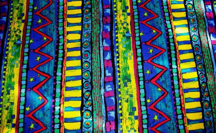 Bright Blue Yellow Designs Cotton Quilt Fabric Kaufman Ebay