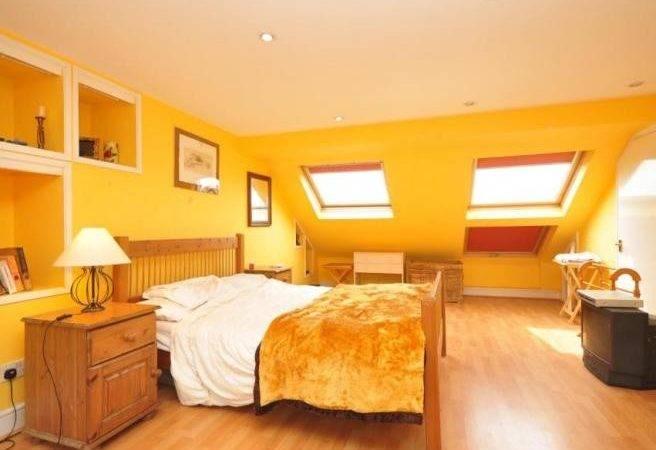 Bright Colourful Beige Orange Yellow Velvet Velux Bedroom Sunny