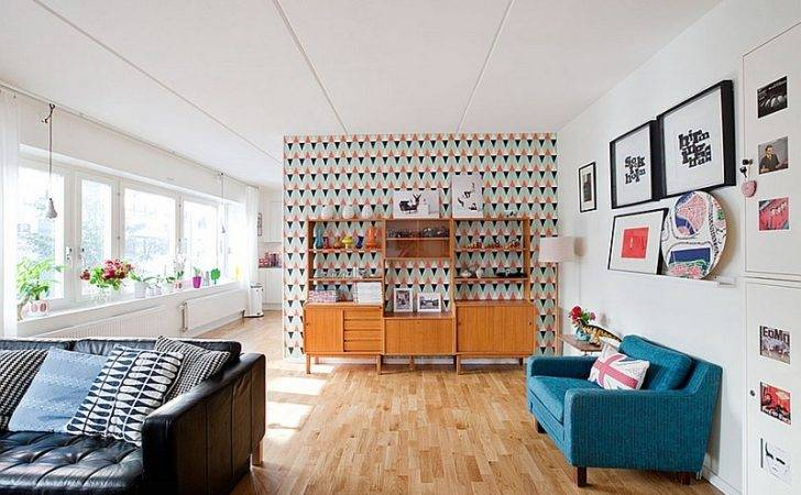 Bright Enlivens Beautiful Living Room Midcentury