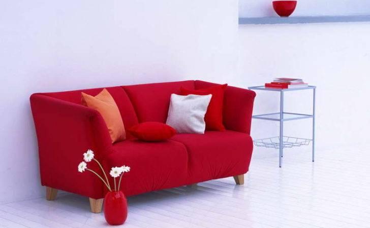 Bright Red Sofa Decorative Vase Overstock Sofas