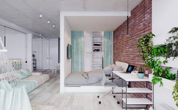 Bright Studio Apartments Creative Bedroom Placement