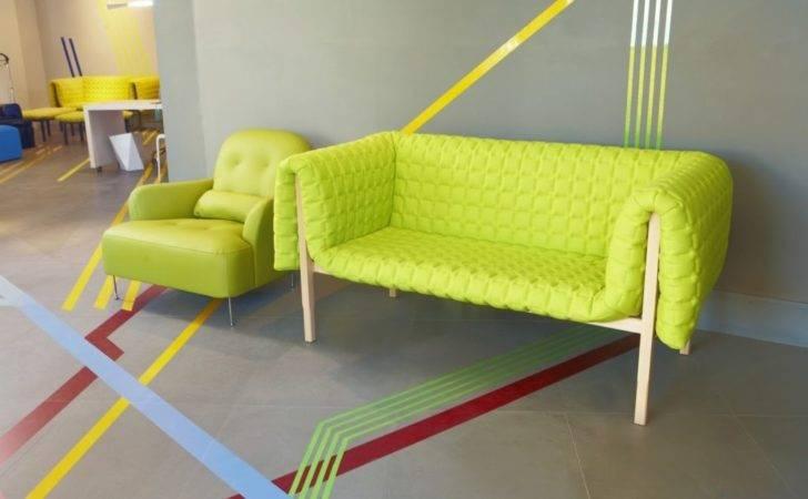 Bright Vivid Colors Furniture Vibrant Modern Sofas