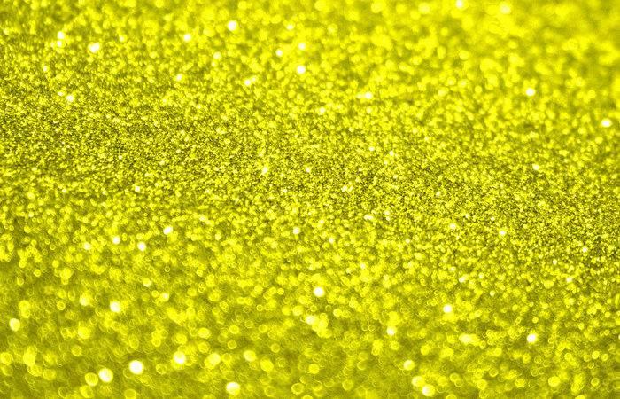 Bright Yellow Glitter Art Print Aloke Design Society