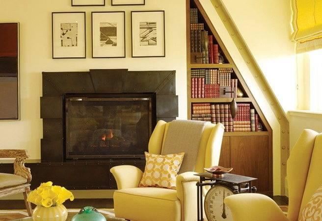Bright Yellow Living Room Design