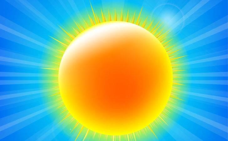 Bright Yellow Sun Design Vector Material