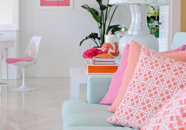 Brighten White Space Your Favorite Colors Blue Couch
