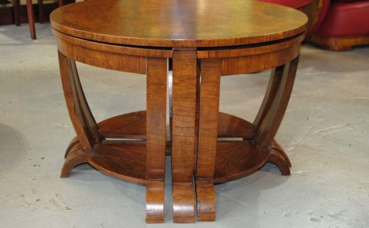 Brilliant Art Deco Furniture Design Round Oak Table