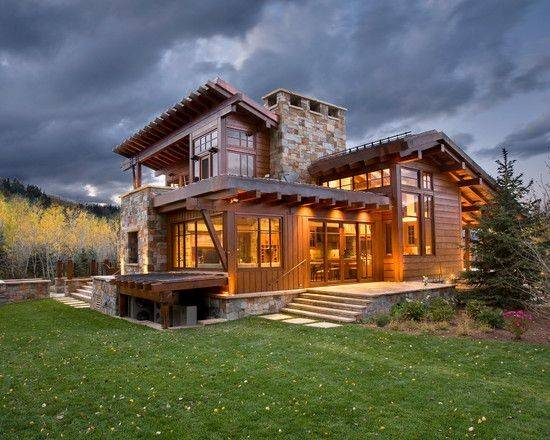 Brilliant Contemporary Rustic Home Design Spacious Living