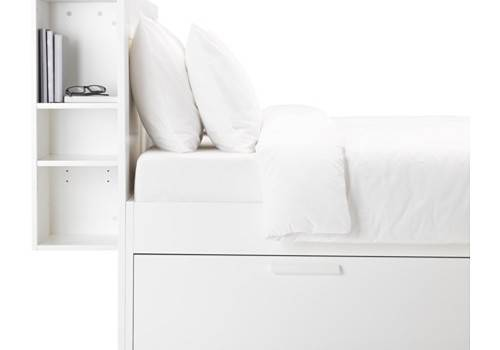 Brimnes Bed Frame Storage Headboard White