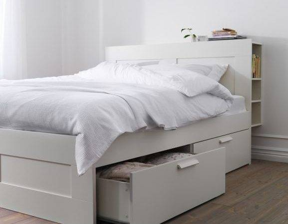 Brimnes Bed Frame Storage White Ikea Beds