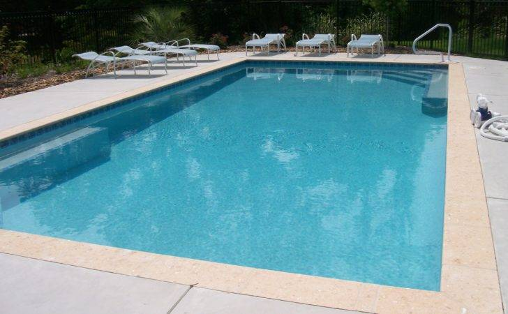 Broom Finish Concrete Pool Deck Around Swimming