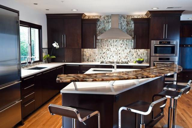 Brown Agate Kitchen Countertop Contemporary New York