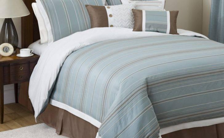 Brown Blue Bedding Sets Set